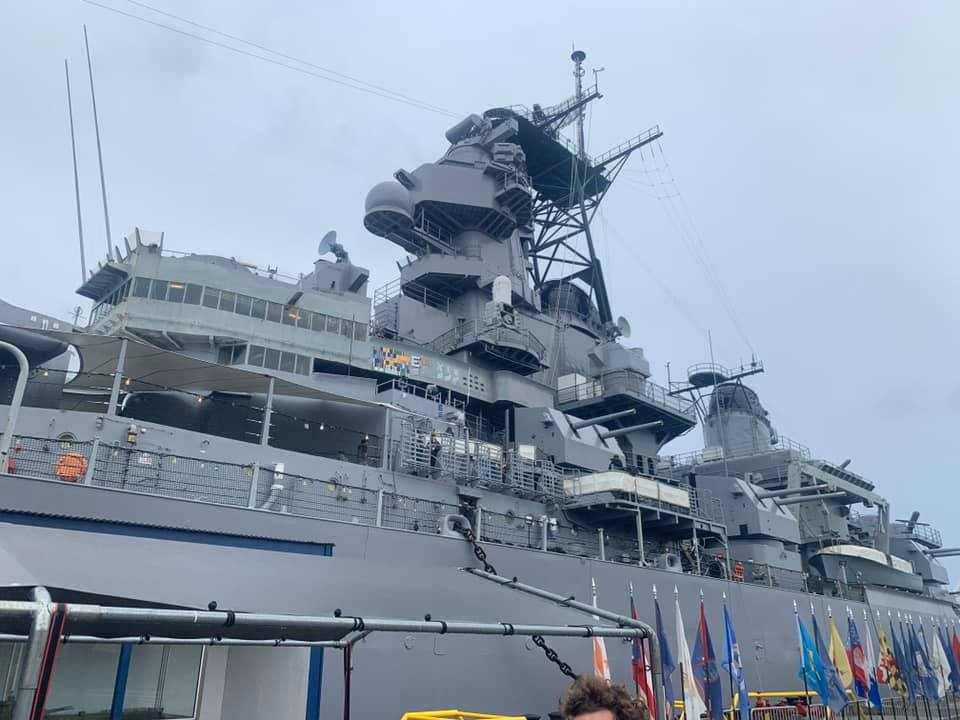 The control tower of the USS Missouri